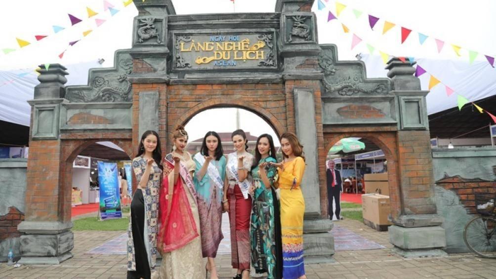 """Ngắm Hoa hậu Hữu nghị ASEAN """"khoe dáng"""" tại resort đẳng cấp nhất Bắc Ninh"""