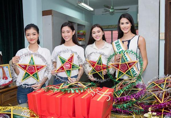 Thùy Linh – Tường San – Kiều Loan cùng Hoa hậu Quốc tế đi từ thiện: Giản dị vẫn xinh hút mắt