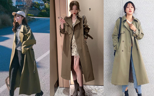 Áo khoác dáng dài trench coat sẵn sàng đón gió lạnh đầu mùa
